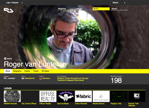 Roger van Lunteren's profile on Resident Advisor